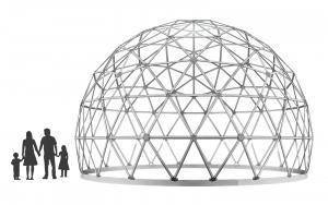 Ekodome 4V Dome 5/8 Sphere 3D render
